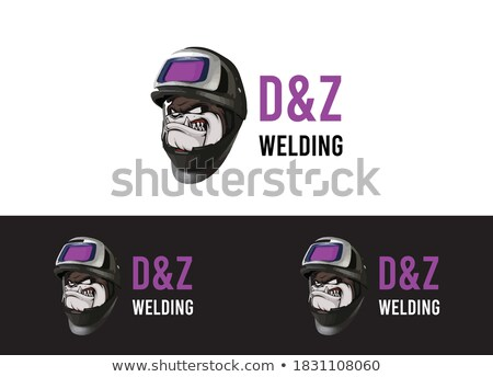 helmet construction worker man A to Z Stock photo © toyotoyo