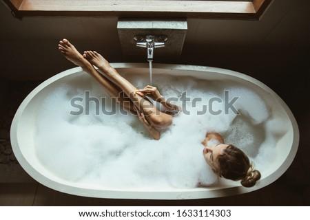 роскошный · ванную · дома · древесины · ванны - Сток-фото © kzenon