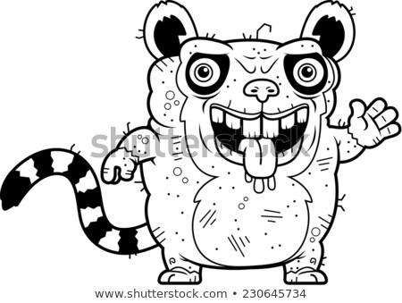 Ugly Lemur Waving Stock photo © cthoman