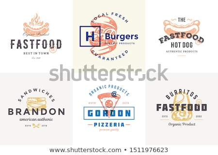 Burrito and Pizza Slice Set Vector Illustration Stock photo © robuart