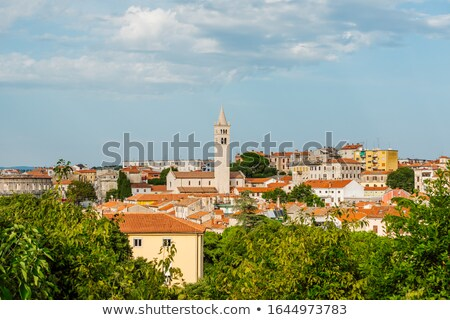 panorámakép · kilátás · domb · régió · Horvátország · épület - stock fotó © xbrchx