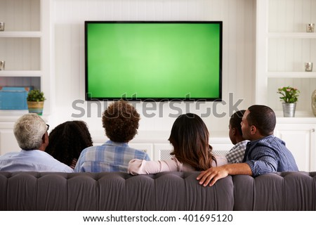 african man watching television at home stock photo © andreypopov