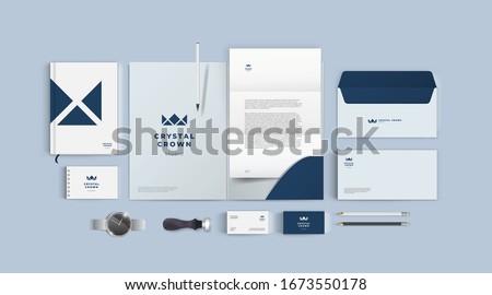 Szett mozdulatlan tárgy illusztráció iroda terv Stock fotó © bluering