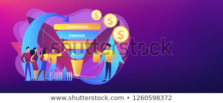 Sales funnel management concept banner header. Stock photo © RAStudio
