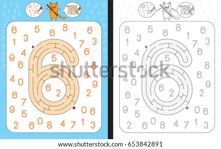 How to write number six worksheet Stock photo © colematt