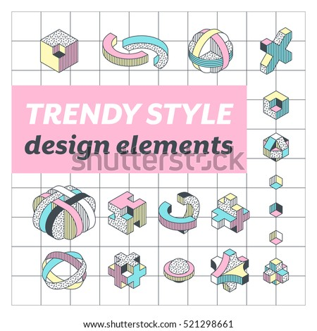 Geometry color outline isometric pattern Stock photo © netkov1