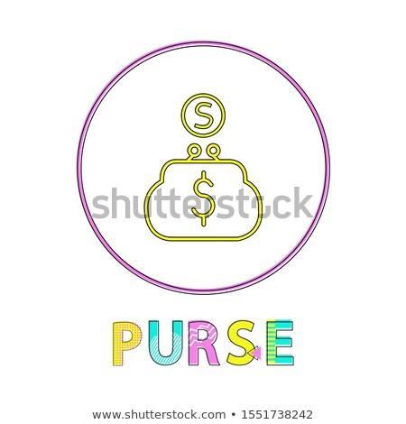 財布 を 明るい リニア アイコン テンプレート ストックフォト © robuart