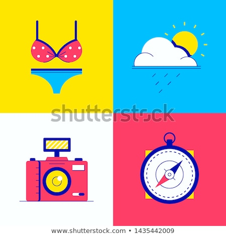 Hot weather - colorful flat design style illustration Stock photo © Decorwithme