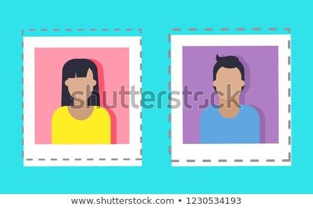 Erkek kadın ayarlamak vektör yalıtılmış Stok fotoğraf © robuart