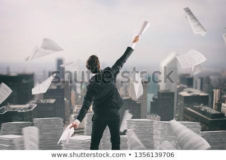 Affaires fatigué bureaucratie up papier air Photo stock © alphaspirit