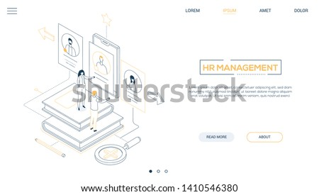 HR specialists - flat design style colorful illustration Stock photo © Decorwithme