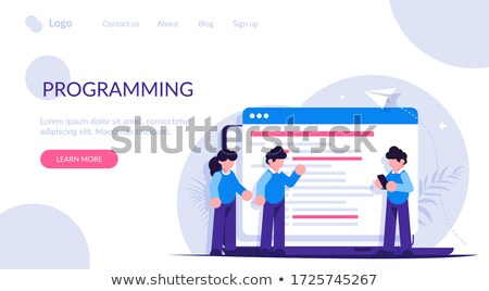 Application development modern concept. Flat vector illustration stock photo © makyzz