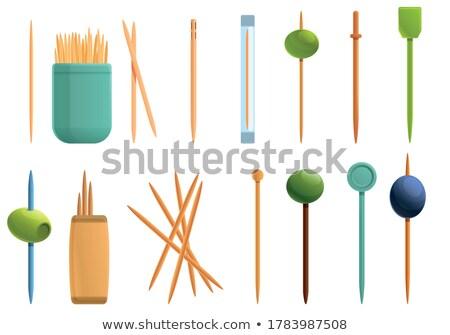 vector set of toothpick stockfoto © olllikeballoon