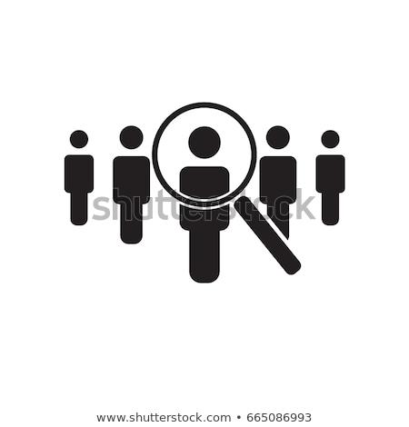 arama · işçi · ikon · işe · alım · ajans · iş - stok fotoğraf © kyryloff