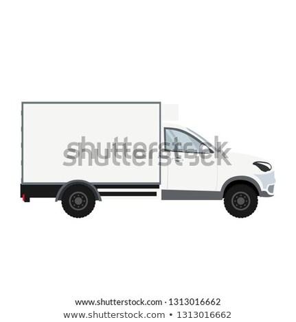 teherautó · sablon · autó · branding · hirdetés · izolált - stock fotó © ipajoel