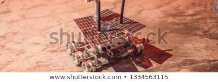 The boy controls the toy rover on Mars. Flight to Mars concept BANNER, LONG FORMAT Stock photo © galitskaya