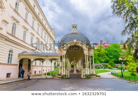 Park Tsjechische Republiek centrum spa gras stad Stockfoto © borisb17