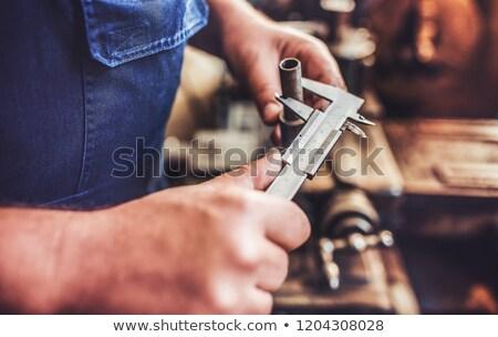 Stock fotó: Közelkép · technikus · dolgozik · gép · fiatal · férfi