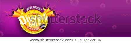 Diwali verkoop banner ontwerp abstract Stockfoto © SArts