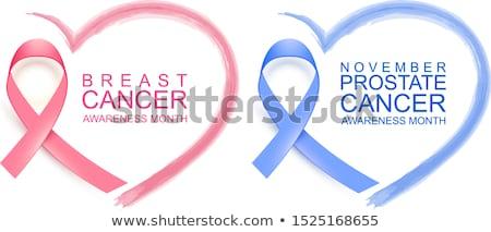 Borstkanker bewustzijn maand type tekst Stockfoto © orensila