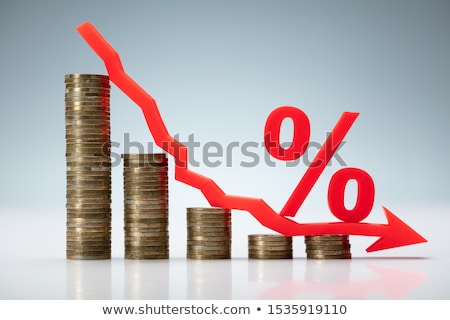 Decreasing Graph Made Of Stacked Coins Stock photo © AndreyPopov