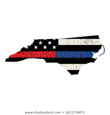 State of North Carolina Police and Firefighter Support Flag Illu Stock photo © enterlinedesign