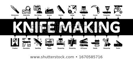 Cuchillo mínimo infografía banner Foto stock © pikepicture