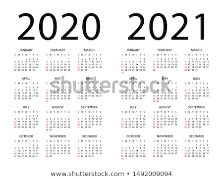 Calendar template 2020, 2021  Stock photo © Silanti