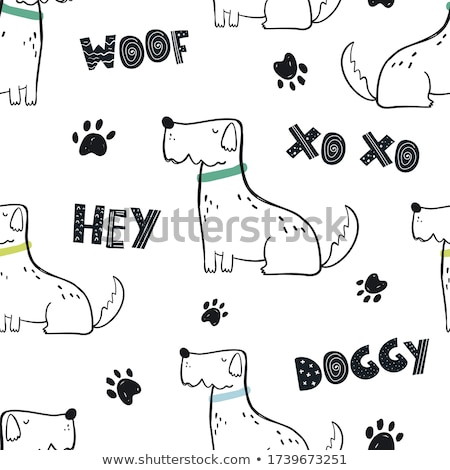 Childish seamless white pattern with colorful doodle letters. Cute repeatable alphabet background Stock photo © ExpressVectors