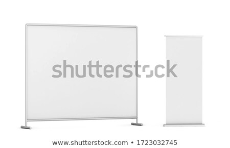 Press wall with roll-up banner mockup Stock photo © montego