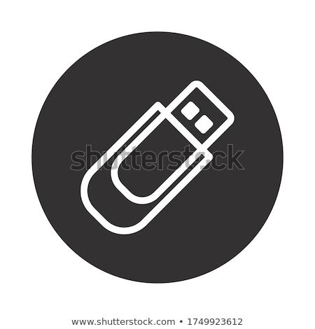 usb · flash · drive · isolado · branco · 3d · render - foto stock © angelp