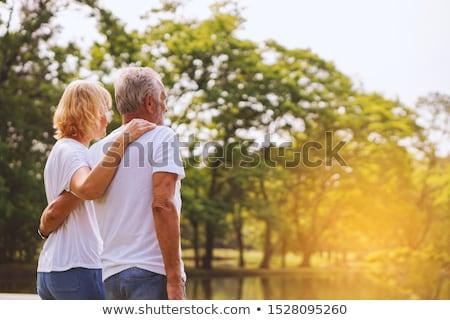 idoso · casal · árvore · parque · floresta · natureza - foto stock © photography33