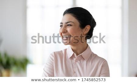 Intelligent naar jonge vrouw pen vrouw Stockfoto © photography33