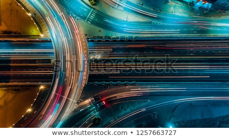 Modern city with busy traffic at night Stock photo © kawing921
