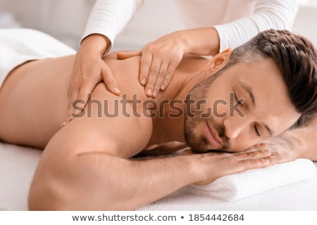 junger · Mann · genießen · Massage · gut · aussehend · gesunden · entspannenden - stock foto © photography33