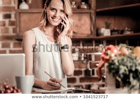 vrouw · telefoon · oproep · hand · telefoon - stockfoto © photography33