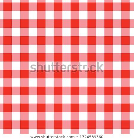 rosso · tovaglia · pattern · bianco · piazza - foto d'archivio © smoki
