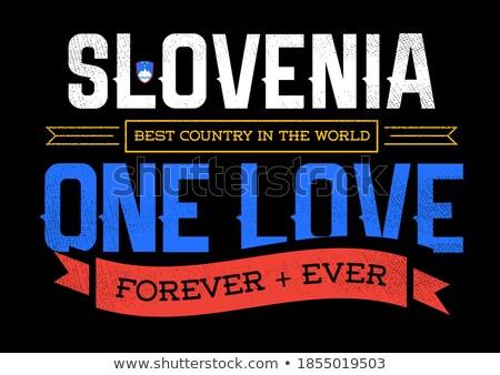 Hóquei cores Eslovenia bandeira esportes Foto stock © perysty