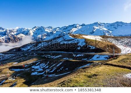 лыжных · станция · дома · древесины · лес · снега - Сток-фото © Photoline