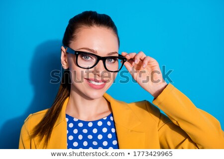 hair style and cute lady, she looks in to the lens Stock photo © carlodapino