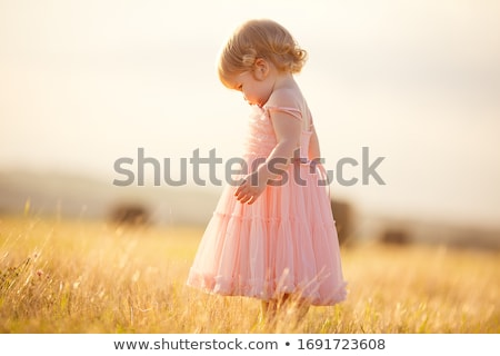 Girl in a pink dress Stock photo © michey
