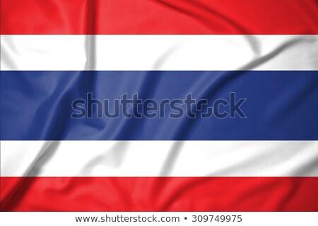 kumaş · doku · bayrak · Tayland · mavi · yay - stok fotoğraf © maxmitzu