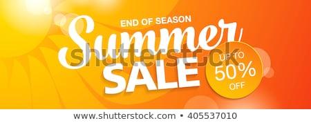 big summer sale in sun label stock photo © marinini