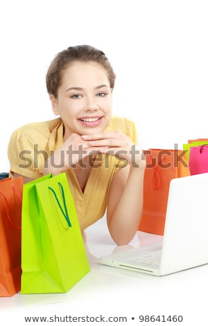Women sat surrounded by shopping bags Stock photo © photography33