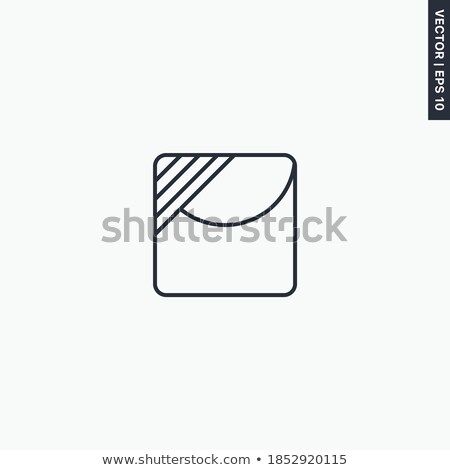 Textile care symbol line dry in the shade Stock photo © Ustofre9