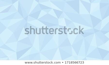 Blue Triangular Background stock photo © VolsKinvols