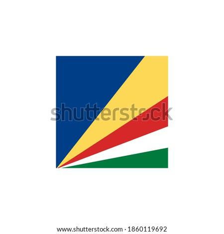 Stok fotoğraf: Düğme · Seyşeller · harita · okyanus · bayrak · ülke