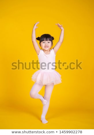 Beautiful ballerina practising her ballet Stock photo © dash