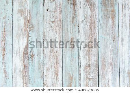 fal · fából · készült · deszkák · festett · zöld · textúra - stock fotó © fotoaloja