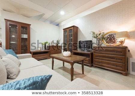 set of vintage wooden furnitures stock photo © punsayaporn